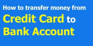 How To Transfer Money From Credit Card To Bank Account