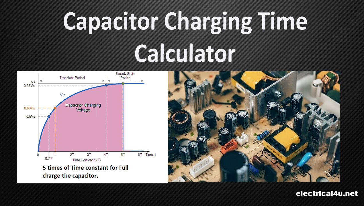 capacitor time constant calculator